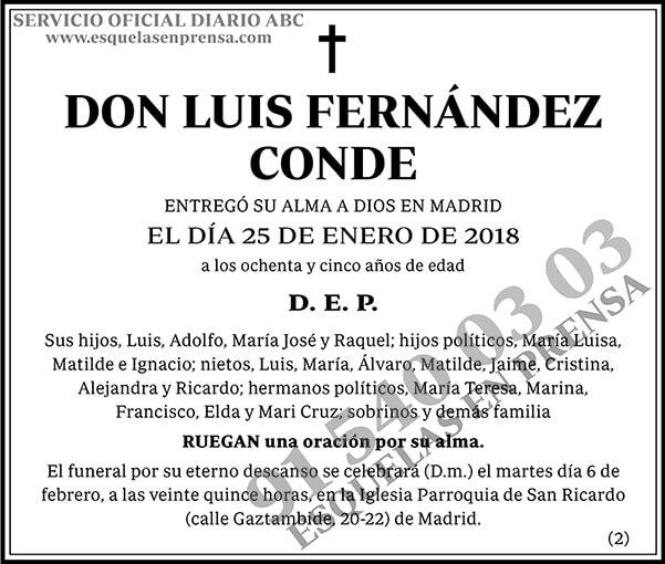 Luis Fernández Conde